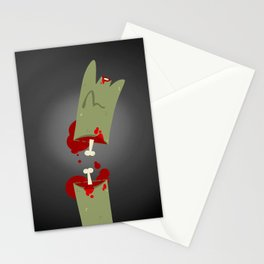 Lefty Zombie Stationery Cards