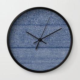 The Rosetta Stone // Navy Blue Wall Clock