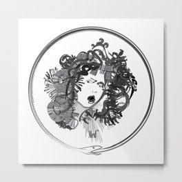 Med-usa with seal Metal Print