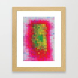 Digital Patchwork: Fuchsia Framed Art Print