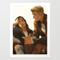 stucky Art Prints featuring Stucky, Warm Afternoon by MMCoconut