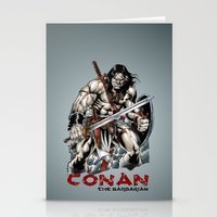 conan Stationery Cards featuring Conan by CromMorc
