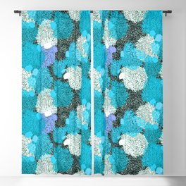 Coral Sea Pattern  |  Bright Blue + Violet Blackout Curtain