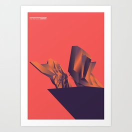 Futuristic Monuments Of Old Yugoslavia Art Print