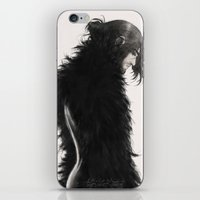kili iPhone & iPod Skins featuring Raven kili by AlyTheKitten