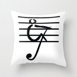 Rowing & Music Key1 Throw Pillow