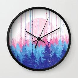 rainy forest 2 Wall Clock