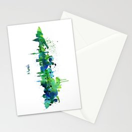 Munich Skyline Silhouette Stationery Cards