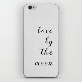 Love By The Moon iPhone Skin