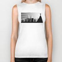 rio de janeiro Biker Tanks featuring Rio de Janeiro skyline by siloto