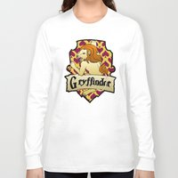 gryffindor Long Sleeve T-shirts featuring Gryffindor Crest by AriesNamarie