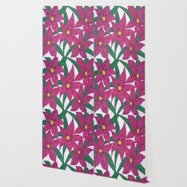 Ultra Violet Lily Bouquet Wallpaper