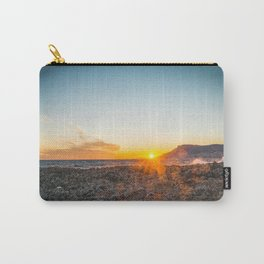 The bay of Montecarlo Monaco at sunset from Cap Martin in a sunny winter day Carry-All Pouch