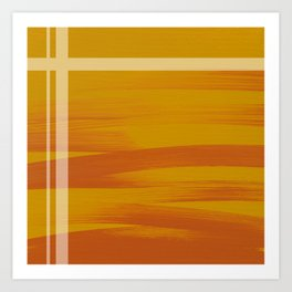 Sunset (Yellow) Art Print