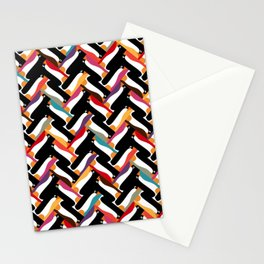 herringbone penguin Stationery Cards