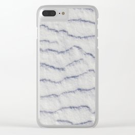 Snowy surface, winter Clear iPhone Case