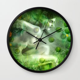"""Aquatic Spring Girl"" (2018 Version) Wall Clock"