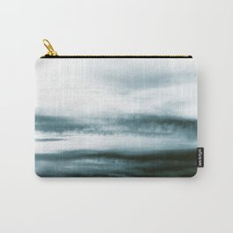WHITE & BLUE & BLACK TOUCHING #3 #abstract #decor #art #society6 Carry-All Pouch