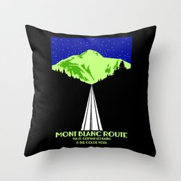 Mont Blanc Alps railway route Throw Pillow