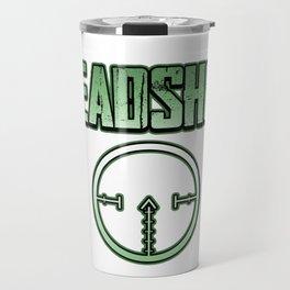 Headshot online internet game shooter gamer fan gift idea Travel Mug