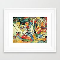 """kandinsky Framed Art Prints featuring Vasily Kandinsky Sketch for """"Composition II"""" by Artlala for MSF Doctors Without Borders"""