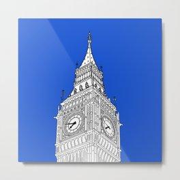 London Big Ben - Line Art Metal Print