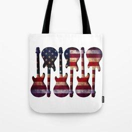 American Flag Guitar Art Tote Bag