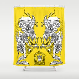 Coffeewobbler Shower Curtain