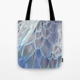 Silver Feathers Tote Bag