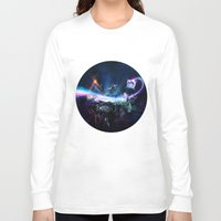 surrealism Long Sleeve T-shirts featuring Astronomical Hyper-Surrealism 'Pit Stop' by Jono Kivex