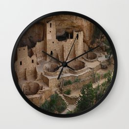 Cliff Palace Overview Wall Clock