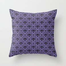 Haunted Mansion Wallpaper Throw Pillow