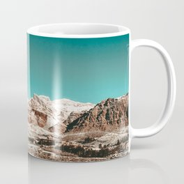 Vintage Desert Snow Living // Red Rock Canyon Landscape Scenic Winter View Photograph Coffee Mug