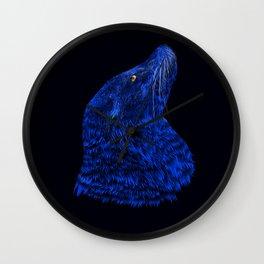 Neon Sea Lion Wall Clock