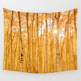 AUTUMN ASPENS OF COLORADO Wall Tapestry