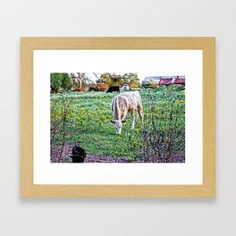 I See Cows Framed Art Print