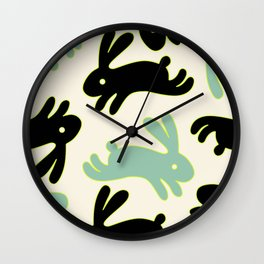 Bunny Honey Wall Clock