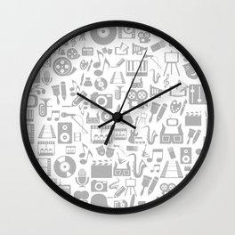 Art a background Wall Clock