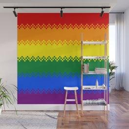 pixel pride- gay pride flag Wall Mural