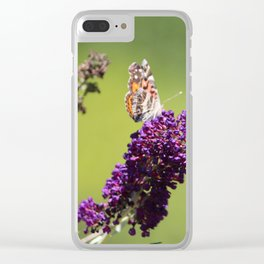 Butterfly With Flowers Clear iPhone Case
