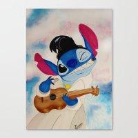 stitch Canvas Prints featuring Stitch by Goolpia