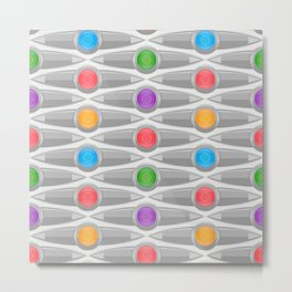 Abstract Colorful Decorative Pattern Metal Print