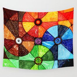 Earth Air Fire Water Ether Wall Tapestry