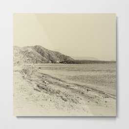 Tranquil bay view in sepia Metal Print