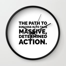The path to success Wall Clock