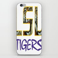 decal iPhone & iPod Skins featuring LSU NEW DECAL by The Greedy Fox