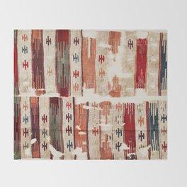 Karapinar  Antique Turkish Konya Kilim Throw Blanket