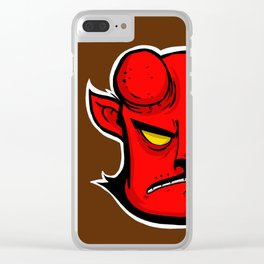 HELL BOY / CAT Clear iPhone Case
