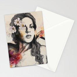 Sinaia | nude flower lady portrait Stationery Cards