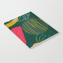 mid century shapes garden party 3 Notebook